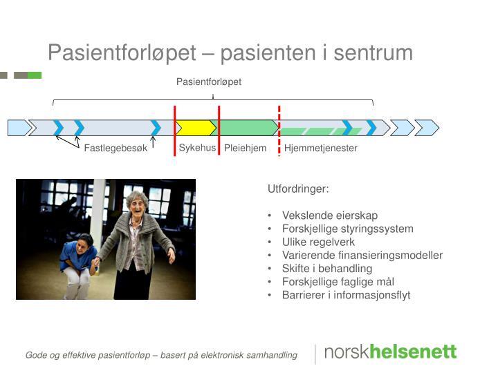 Pasientforløpet – pasienten i sentrum