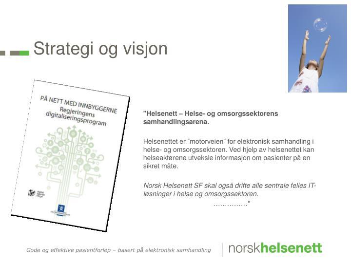 Strategi og visjon