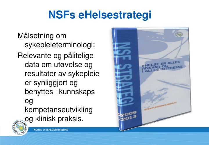NSFs eHelsestrategi