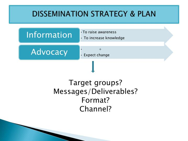 DISSEMINATION STRATEGY & PLAN
