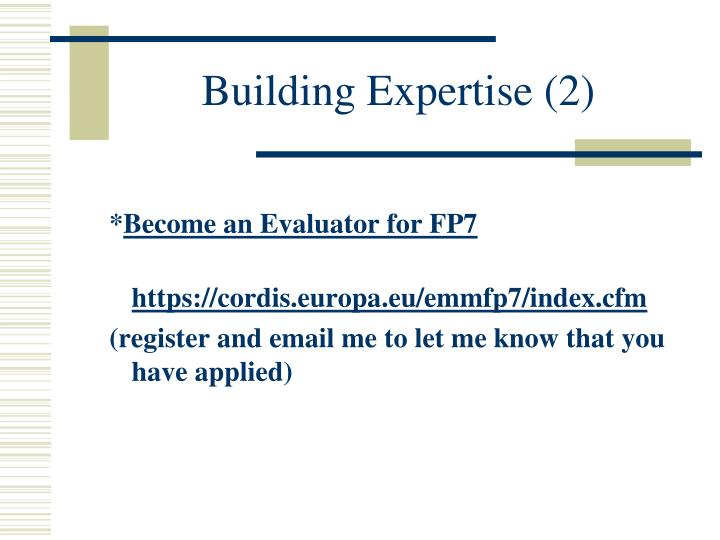 Building Expertise (2)