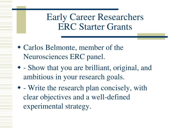 Early Career Researchers