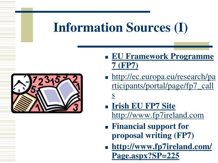 Information Sources (I)