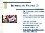 information sources i