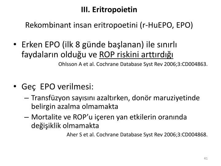 III. Eritropoietin