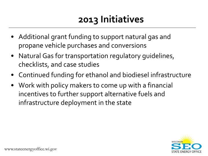 2013 Initiatives