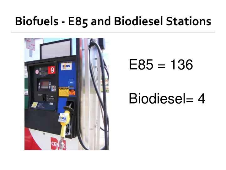 Biofuels - E85 and Biodiesel Stations