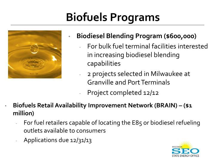 Biofuels Programs