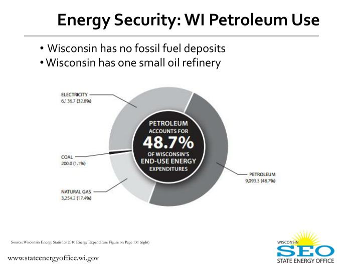 Energy Security: WI Petroleum Use