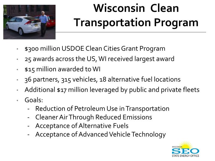 Wisconsin  Clean Transportation Program