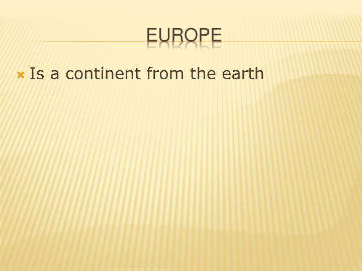 Is a continent