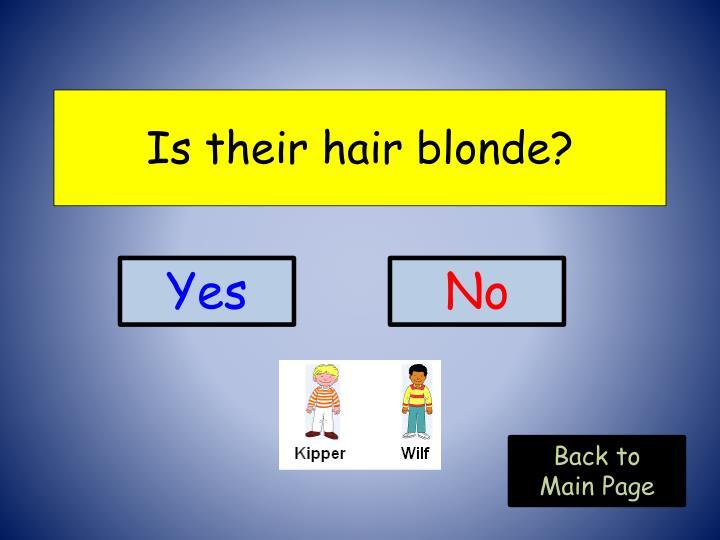 Is their hair blonde?