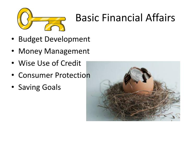 Basic Financial Affairs
