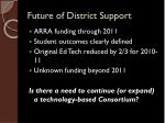 future of district support