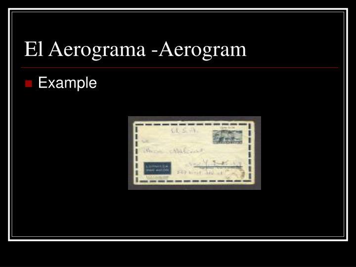 El Aerograma -Aerogram