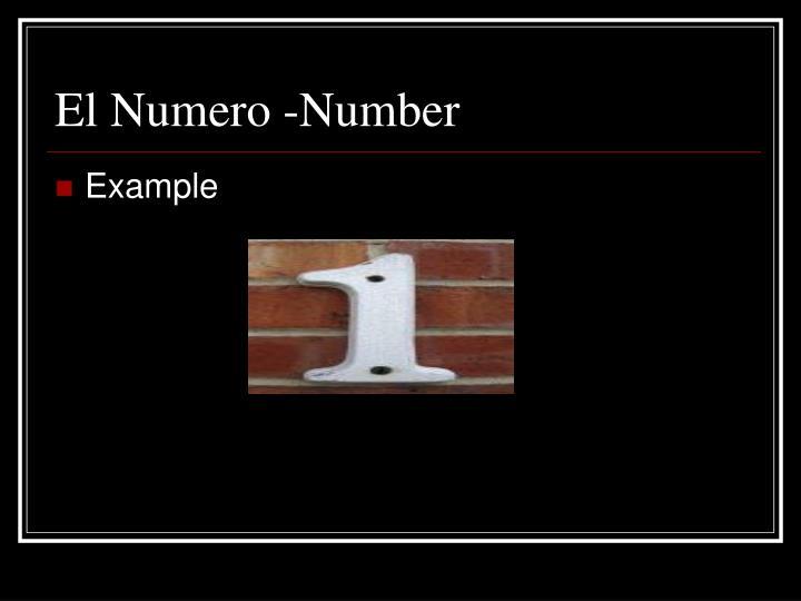 El Numero -Number