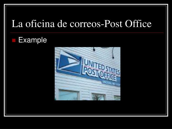 La oficina de correos-Post Office