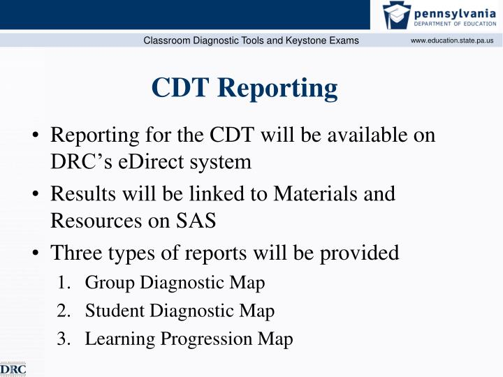 CDT Reporting