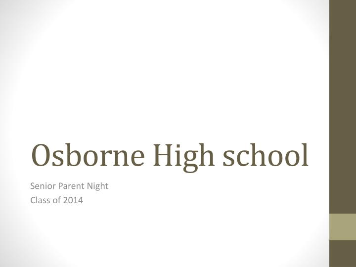 Osborne high school