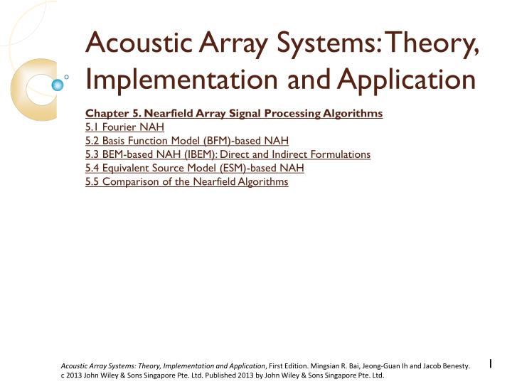 Acoustic array systems theory implementation and application