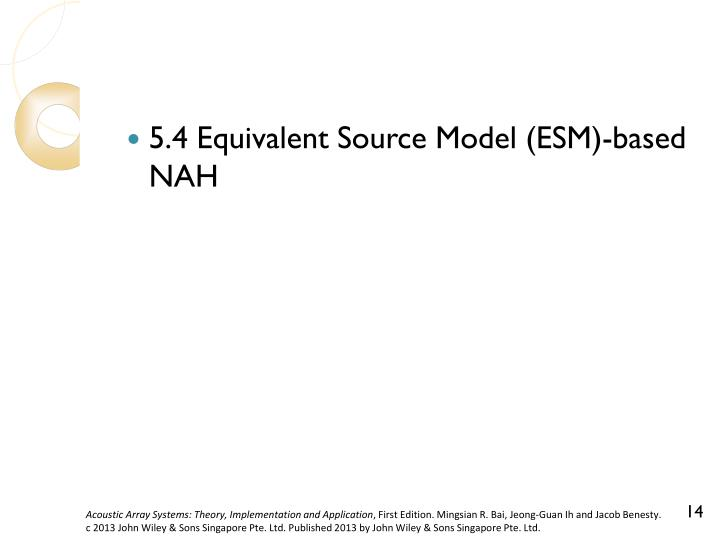 5.4 Equivalent Source Model (ESM)-based NAH