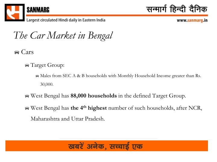 The Car Market in Bengal