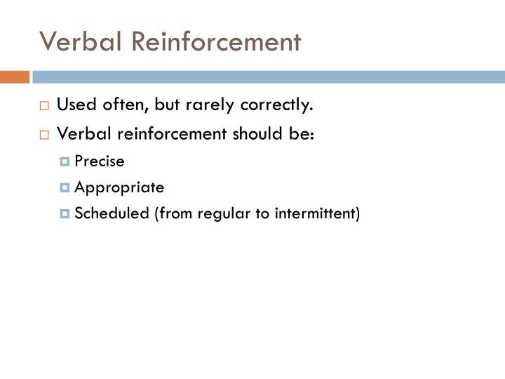 Verbal Reinforcement