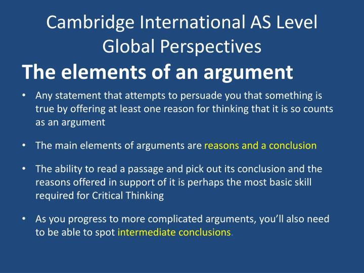 critical thinking a level cambridge