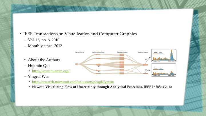 IEEE Transactions on Visualization and Computer Graphics