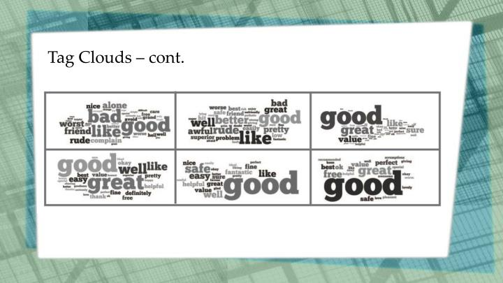 Tag Clouds – cont.