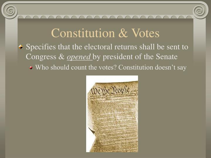Constitution & Votes