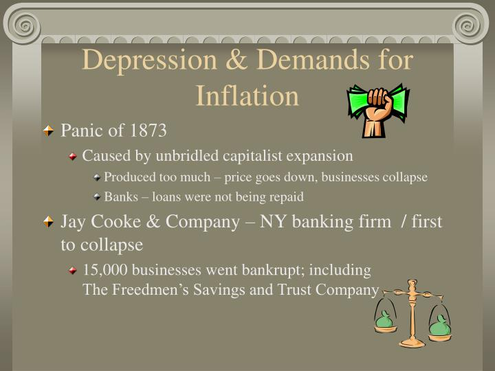 Depression & Demands for Inflation