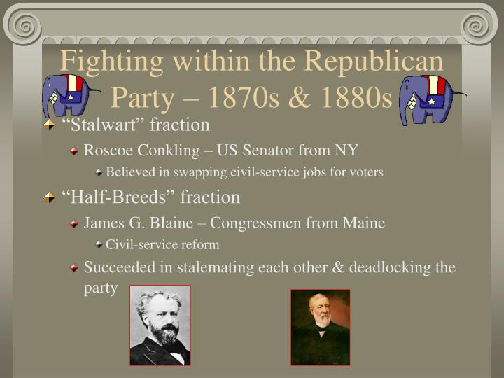 Fighting within the Republican Party – 1870s & 1880s