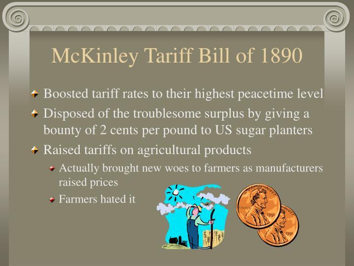 McKinley Tariff Bill of 1890