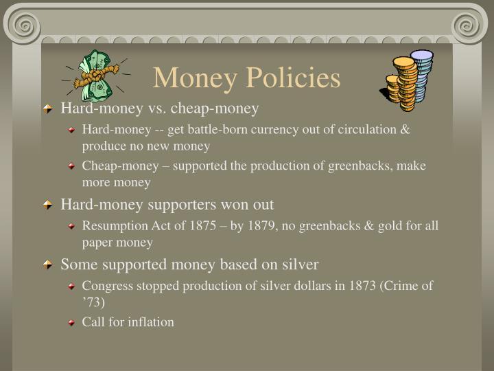 Money Policies