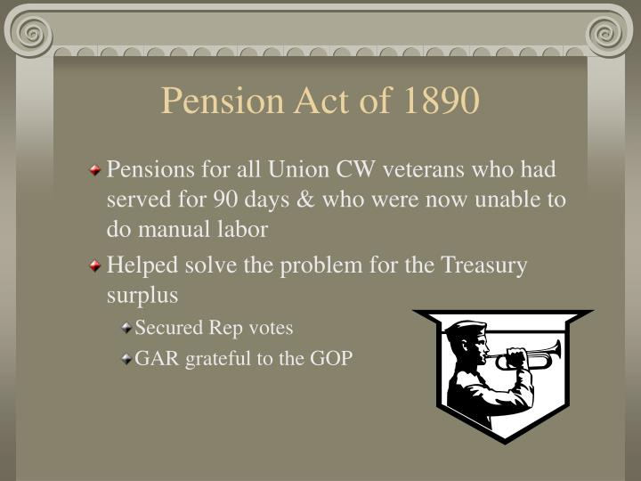 Pension Act of 1890