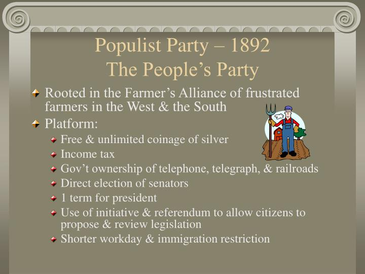 Populist Party – 1892