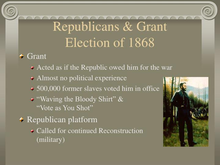 Republicans grant election of 1868