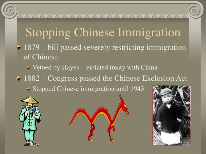 Stopping Chinese Immigration