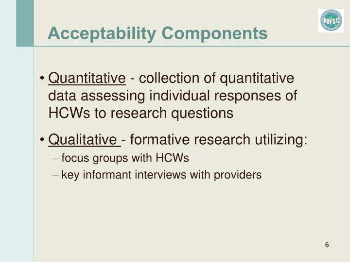 Acceptability Components