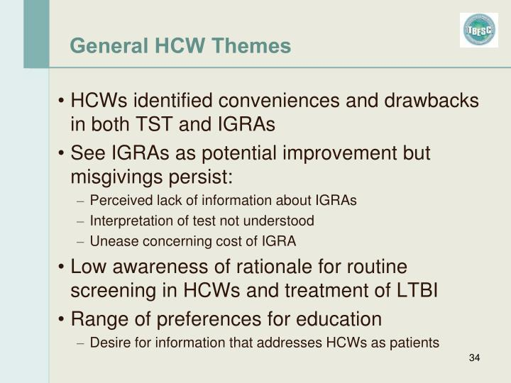 General HCW Themes