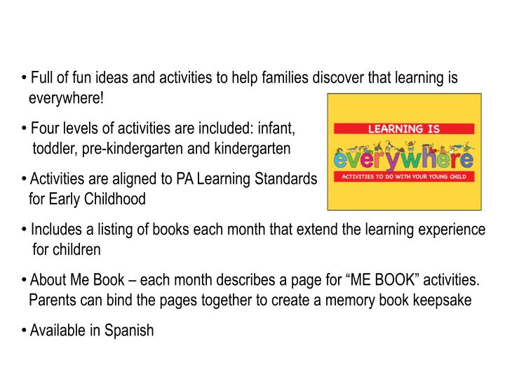 Full of fun ideas and activities to help families discover that learning is