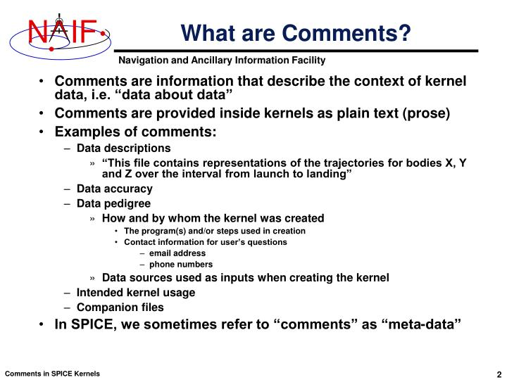 What are Comments?