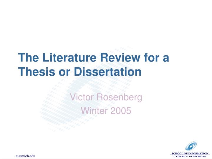 literature search for thesis