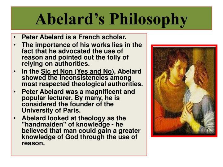 Abelard's Philosophy