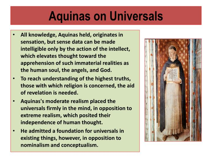 Aquinas on Universals