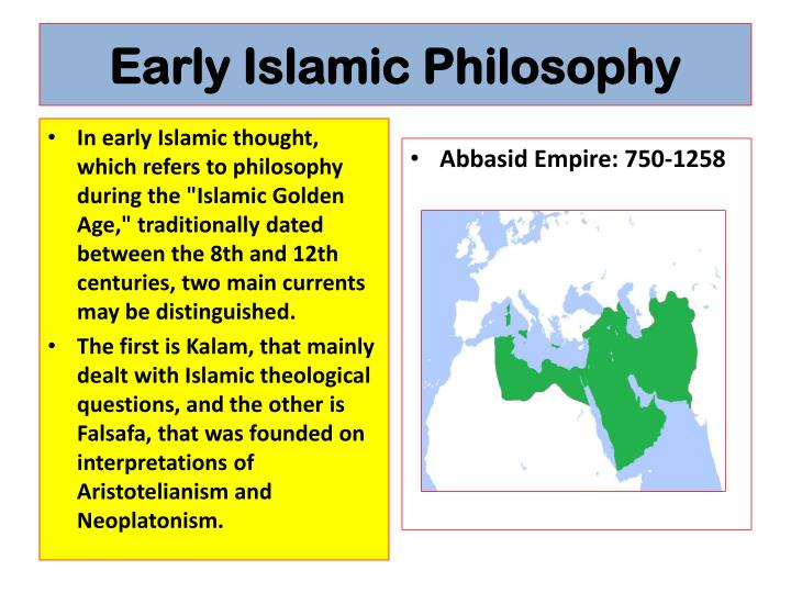 Early Islamic Philosophy