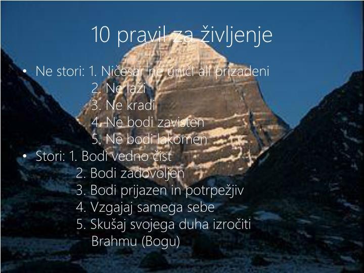10 pravil za življenje