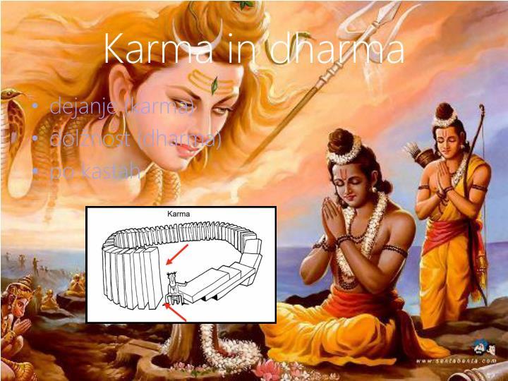Karma in dharma
