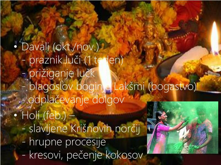 Davali (okt./nov.)